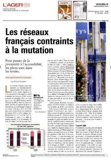 Les réseaux français contraints à la mutation - Equinox Consulting