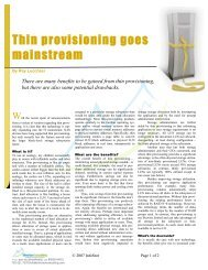 Thin provisioning goes mainstream - Silverton Consulting