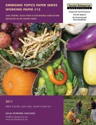 Case Studies: Local Food & Sustainable Agriculture Initiatives in the ...