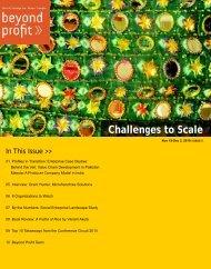 Challenges to Scale - Social Enterprise Associates