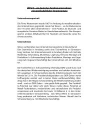 ein deutsches Familienunternehmen mit gesellschaftlicher - Wesco