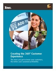 Creating the 360° Customer Experience - Inc.com