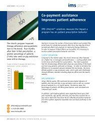Co-pay Program ROI Measurement - IMS Health