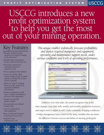 Mine Profit Optimization PDF - USC Consulting Group