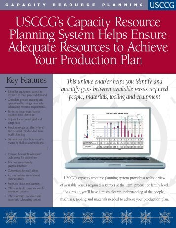 Capacity Resource Planning - USC Consulting Group