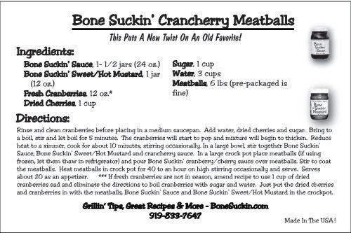 Bone Suckin' Crancherry Meatballs