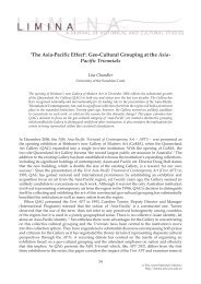'The Asia-Pacific Effect': Geo-Cultural Grouping at the ... - Past volumes
