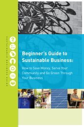 Beginner's Guide to Sustainable Business: