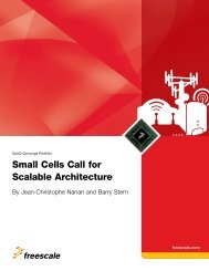 Freescale | Small Cells Call for Scalable Architecture