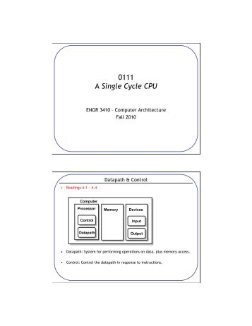 Cpu Performance Evaluation Cycles Per Instruction Cpi