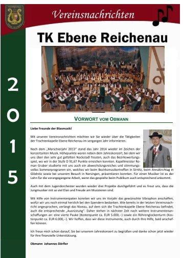 Vereinsnachrichten 2015