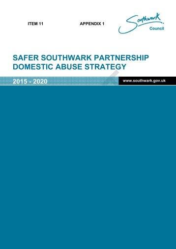 Appendix 1 Domestic Abuse Strategy