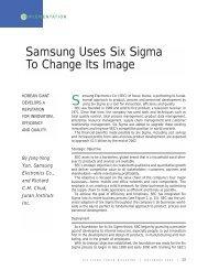 Samsung Uses Six Sigma to Change Its Image.pdf - Juran Institute