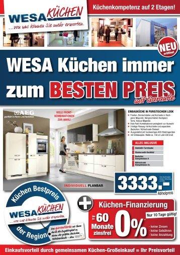 bei WEsa Küchen ist Küchen-luxus bezahlbar!
