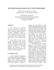 Soft X-Ray Detection System for the CATSAT Small ... - Olin-NASA