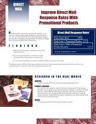 Improve Direct Mail Response Rates With Promotional Products
