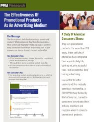 The Effectiveness Of Promotional Products As An Advertising ... - PPAI