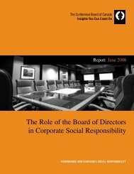 The Role of the Board of Directors in Corporate ... - Coro Strandberg