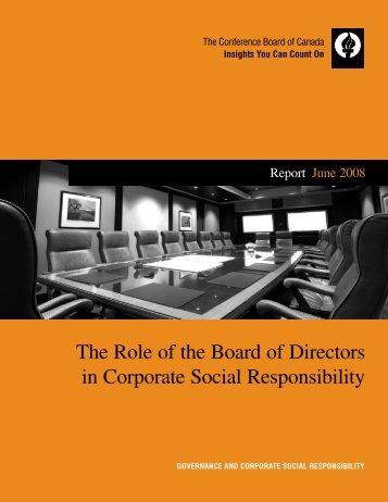 The Role of the Board of Directors in Corporate ... - Coro Strandberg