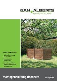 Montageanleitung Hochbeet - Welt des Gartens