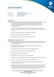 Job Description - Daisy Group plc