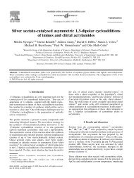Silver acetate-catalysed asymmetric 1,3-dipolar cycloadditions of ...