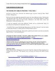 MY BOOK OF URBAN POETRY: VOLUME 1 - SBPRA