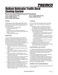 Vulkem Pedestrian Deck Coating System - Tremco Sealants
