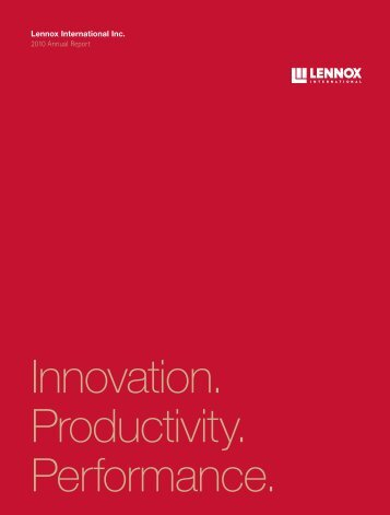 2010 Annual Report and 10-K - Lennox International
