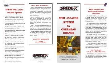 rfid locator system overhead cranes - SPEDE Technologies