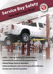 Service Bay Safety - Automotive Lift Institute