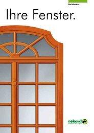 Holz-Fenster - Welt des Wohnens