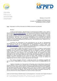 Objet : Présentation de l'offre de formations de l ... - GLOBE Network