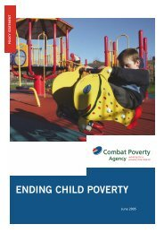 Ending Child Poverty: Combat Poverty Agency Policy Statement on ...