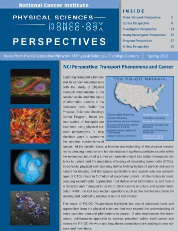 Spring 2011 PS-OC Perspectives - Office of Physical Sciences ...