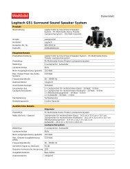 Logitech G51 Surround Sound Speaker System - Weltbild.at