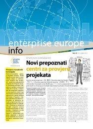 Novi prepoznati centri za provjeru projekata - Europska ...