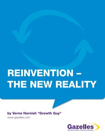 REINVENTION – THE NEW REALITY - Gazelles