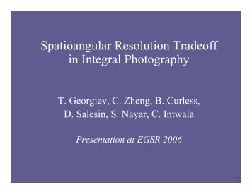Spatioangular Resolution Tradeoff in Integral Photography