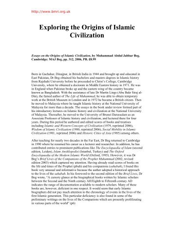 Exploring the Origins of Islamic Civilization