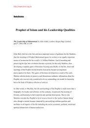 Leadership of Prophet Muhammad - Bengal Muslim Research Institute