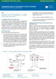 99.01 Rainwater supply for water closet cisterns (1001KB)