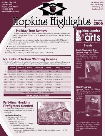 Hopkins Highlights - January 2006 - City of Hopkins