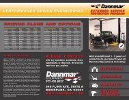 PERFORMANCE DRIVEN ENGINEERING - Dannmar Equipment
