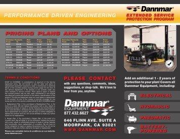 PERFORMANCE DRIVEN ENGINEERING - Dannmar Equipment