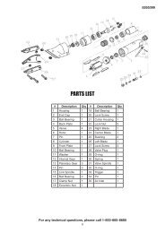 PARTS LIST - Princess Auto