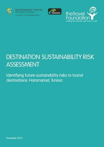 destination sustainability risk assessment - The Travel Foundation