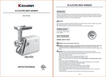 #5 ELECTRIC MEAT GRINDER