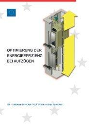 Optimierung der Energieeffizienz bei Aufzügen - E4 Energy Efficient ...