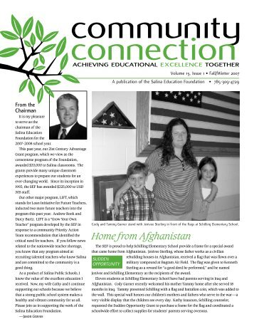 Home from Afghanistan - Salina Education Foundation